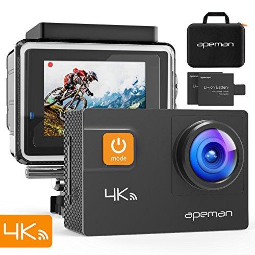 APEMAN 4K Action Cam 20MP WiFi Wasserdichte Unterwasser-Unterwasserkameras-Test