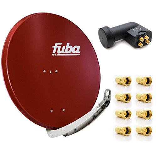 Fuba DAA 850 R Digital Sat Schüssel Rot 85x85cm Full-Satellitenschüssel-Test