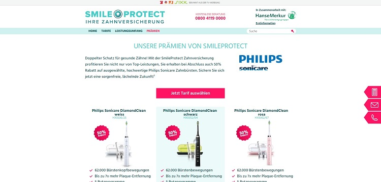 SmileProtect Prämien 2017