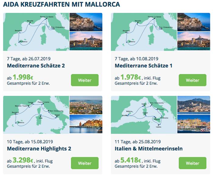 AIDA Kreuzfahrten nach Mallorca