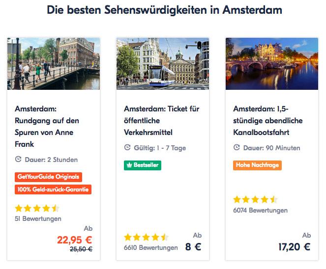 Erfahrungen mit GetYourGuide Amsterdam
