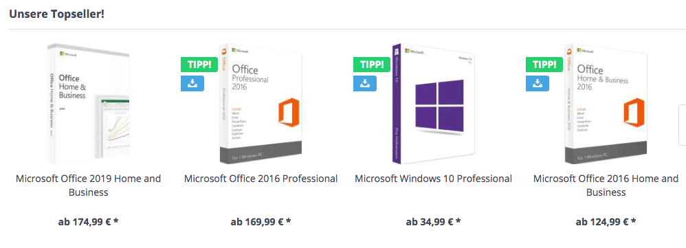 Lizenzfuchs: Topseller Windows und Office